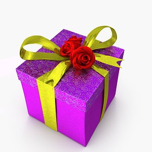 3D model present gift holiday