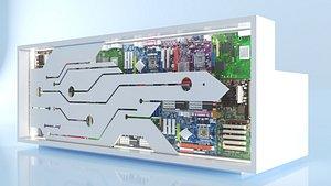 3D deco reception counter