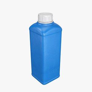 Plastic container blue 06 3D