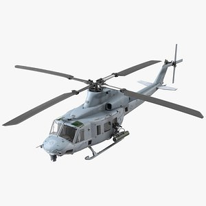 3D Bell UH1Y Venom Helicopter Rigged model