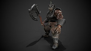 rig animations armor 3D model