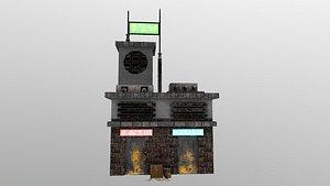 Cyberpunk Building 6 3D