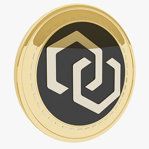 3D 12Ships Cryptocurrency Gold Coin model