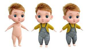 3D model baby cartoon toon