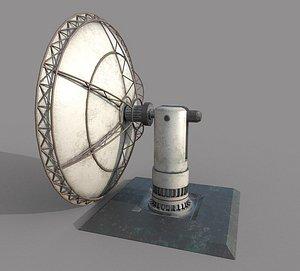 3D Satellite Dish Old