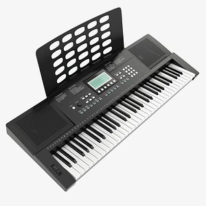music keyboard home 3D model