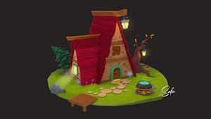 3D 3D Little house
