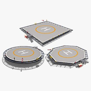 Heliports Collection 3D model