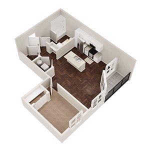 3D  floor plan model