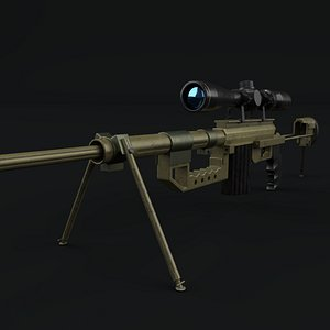 3D model cheytac rifle sniper