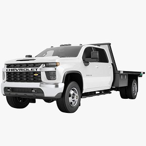 Chevrolet Silverado 3500 HD 2021 Flatbed Dump Truck 06 3D model