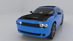 car dodge challenger 3D model