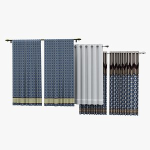 3D Curtains Pack