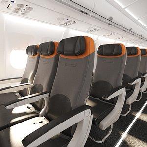 3D Airbus A320 Interior Cabin Economy 3D model