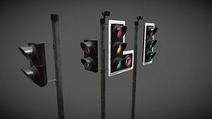 3D model uk traffic lights