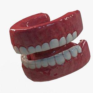 Low Detail TeethsTongue SEt 3D model