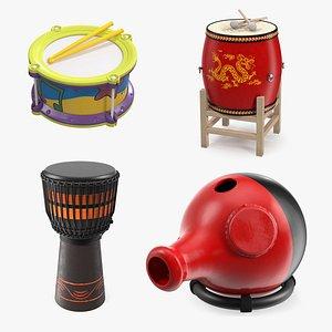 4 drum 3D model