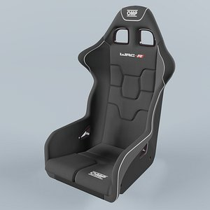 3D OMP WRC-R Racing Black Seat model