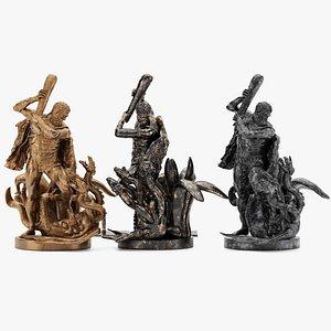 Sculpture Hercules 3D model