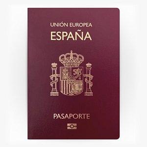 SPAIN Passport 3D