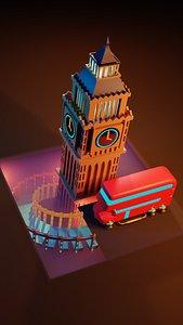 3D model cyber punk london