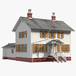 3D model Antique Wooden House