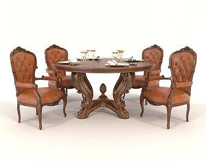 3D table european model