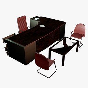 3D model desk administrative