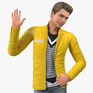 Teenage Boy Fashionable Style Standing Pose 3D model