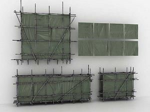 Building scaffold fastener repair building frame cross fastener butt fastener construction site elem 3D model
