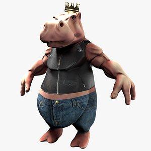 3D hippo print model