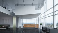 Modern Reception Interior Blender Scene