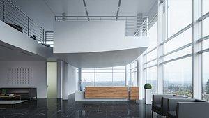 3D model interior scene reception