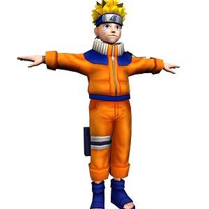 Naruto Uzumaki 3D Rig Model 3D