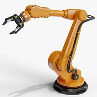 industrial robot arm clean lowpoly