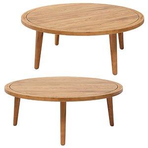 noumea solid acacia garden table model