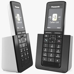 3D Panasonic KX PRS120 Cordless Telephone with Charger model
