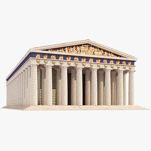 3D temple greek parthenon