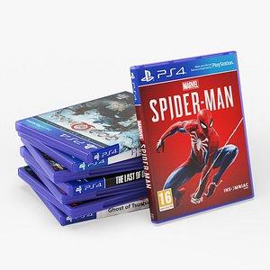 DVD Case disks for PS4 3D model