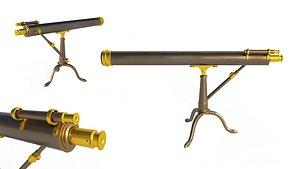 telescope scope 3D model