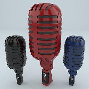 3D retro microphone vintage