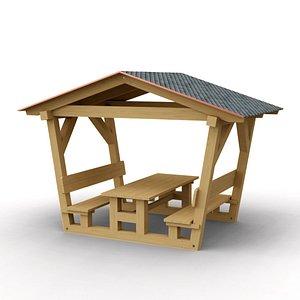 3D model picnic bench