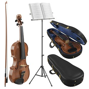 3D model The Violin With Case