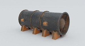 Old Ventilation Fan 3D model