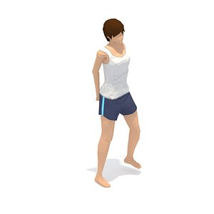 animations exercise yoga woman 3D model