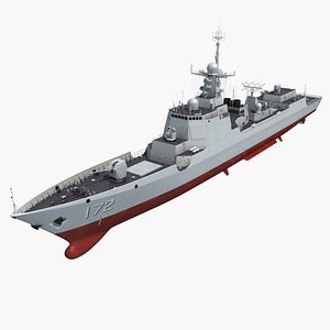 china type 052d destroyer 3d max