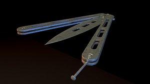 knife batterfly 3D model