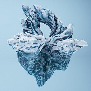 Iceberg mountain cartoon 3D model