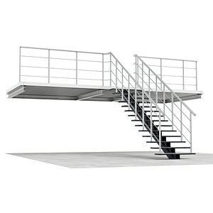 3D stairs storage room