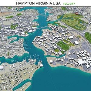 3D Hampton Virginia USA model